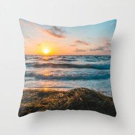 St. Pete Sunrise Throw Pillow