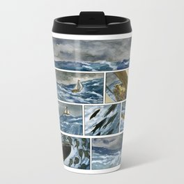Untitled (A Girl and her Boat) Metal Travel Mug