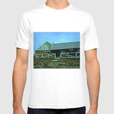 Old candy store. MEDIUM White Mens Fitted Tee