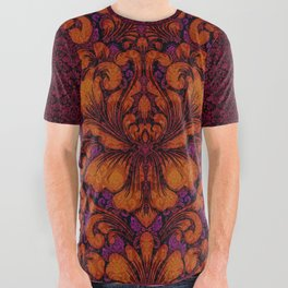 Gothic Flowers All Over Graphic Tee