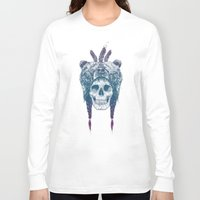 dead Long Sleeve T-shirts featuring Dead shaman by Balazs Solti