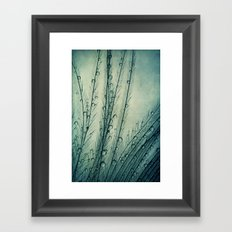Moody Blues Feather Drops Framed Art Print
