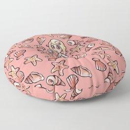 Shelly Mermaid Shells Shellfie Floor Pillow