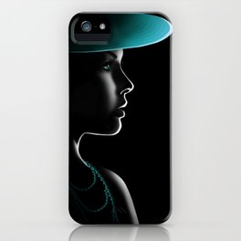 Woman in the light iPhone Case