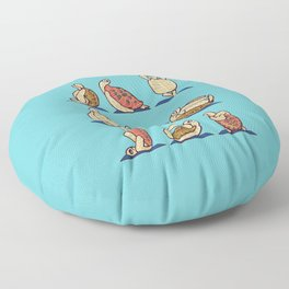 Green Sea Turtle  Yoga Floor Pillow