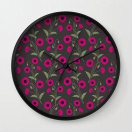 Poppies. Wall Clock