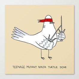 Teenage Mutant Ninja Turtle Dove Canvas Print