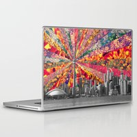 toronto Laptop & iPad Skins featuring Blooming Toronto by Bianca Green