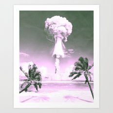 Atomic Beach Art Print
