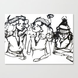 iPhone girl Canvas Print