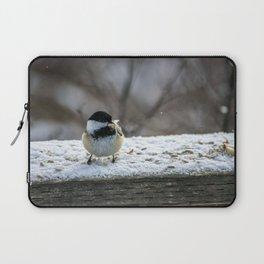 Hungry Little Chickadee Laptop Sleeve