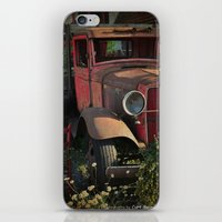 truck iPhone & iPod Skins featuring Maude's Truck by Curt Saunier