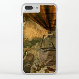 1987 Steampunk Clear iPhone Case