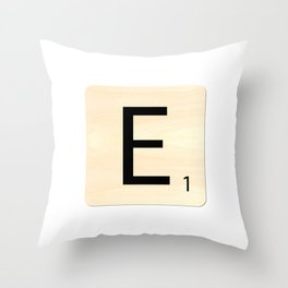 Scrabble E Throw Pillow