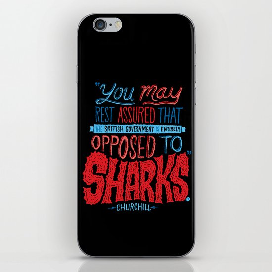 Opposed to Sharks iPhone & iPod Skin