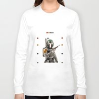 boba fett Long Sleeve T-shirts featuring Boba Fett  by Jared Cady