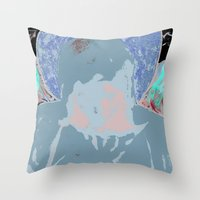 halo Throw Pillows featuring Halo by Mylittleradical