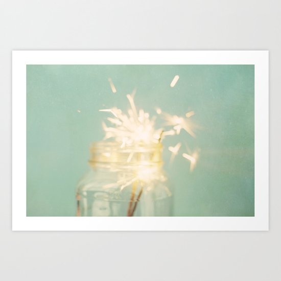 when sparks fly Art Print