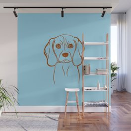 Beagle (Blue and Brown) Wall Mural