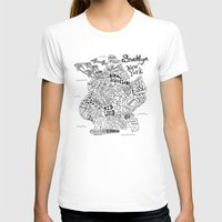 brooklyn T-shirts featuring Brooklyn Map by Claire Lordon