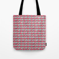 pigs Tote Bags featuring Flying Pigs by Adrian Roman