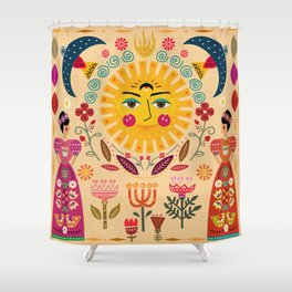 Folk Art Inspired By The Fabulous Frida Shower Curtain
