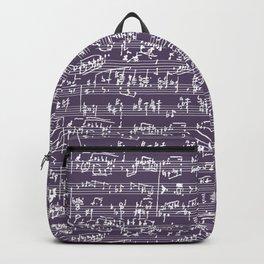 Hand Written Sheet Music // Honey Flower Backpack