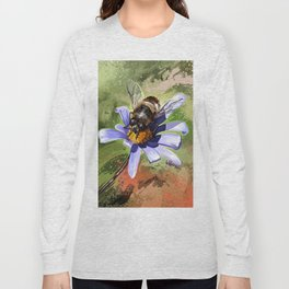 Bee on flower 18 Long Sleeve T-shirt