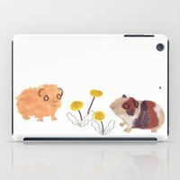 pigs iPad Cases featuring Guinea Pigs by jo clark