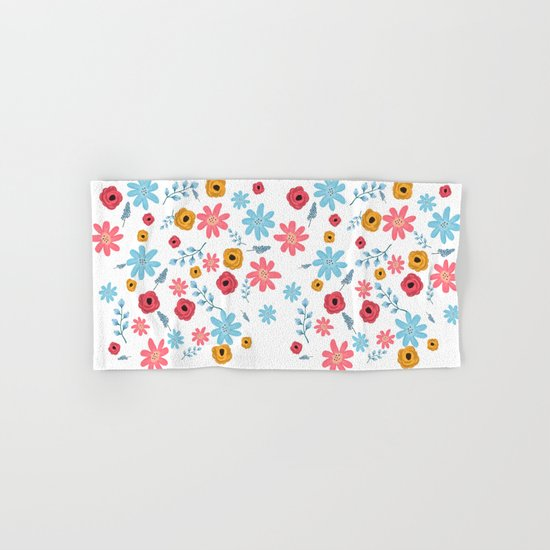 Colors Flowers 3 Hand & Bath Towel