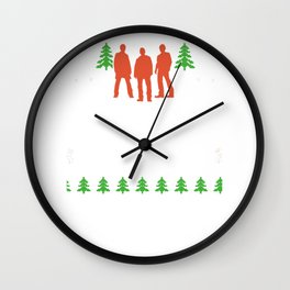 Ugly Christmas Tree Muscle Car Reindeer Wall Clock
