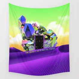 Seeking & Finding Self - Crystal Desert Portal Wall Tapestry
