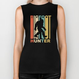 Vintage 1970's Style Bigfoot Hunter Graphic Biker Tank
