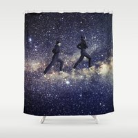 running Shower Curtains featuring Running by Cs025