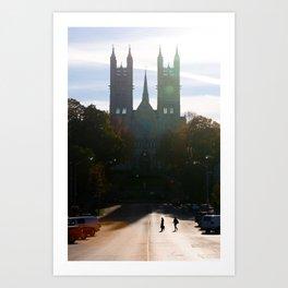 Autumn Silhouette Art Print