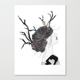 Reindeer in space  Canvas Print