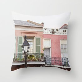 New Orleans Golden Hour in the Quarter Throw Pillow