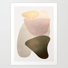 Shiny Abstact Shapes I Art Print