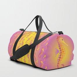 Sunset Seahorse Duffle Bag