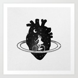 Heart choices. Art Print