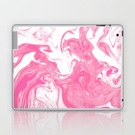 Yukio - spilled ink marble pattern pink marble texture cell phone case pillow decor pisces Laptop & iPad Skin