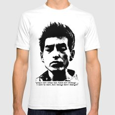 Bob Dylan Things Have Changed SMALL White Mens Fitted Tee