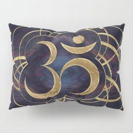 Geometric Om Symbol Gold and Labradorite Pillow Sham