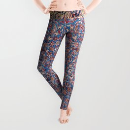 Kashan Central Persian Rug Print Leggings