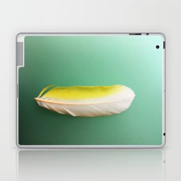 Single, Pale Yellow Feather Laptop & iPad Skin