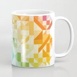 Colorful Geometric Pattern Saturated Rainbow Pattern Design (Red Pink Orange Yellow Green Blue) Coffee Mug