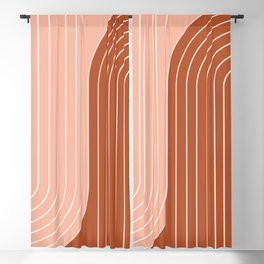 Two Tone Line Curvature XXIX Blackout Curtain