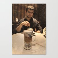 coffe Canvas Prints featuring Coffe break by DS' photoart