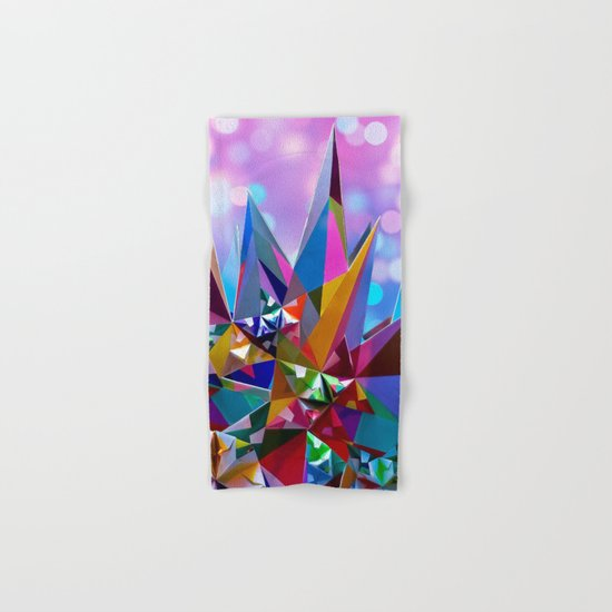 Festive colorful crystals Hand & Bath Towel