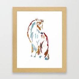 For the Love of Collie Framed Art Print